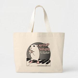 Loves Popcorn! Large Tote Bag