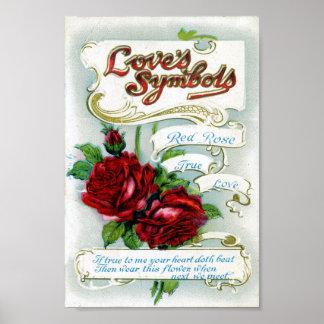 Love's Symbols Poster