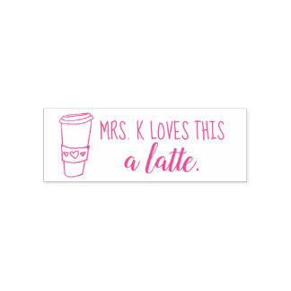 Loves this a latte teacher stamp custom!