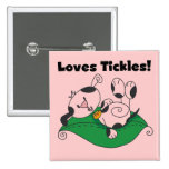 Loves Tickles T-shirts and Gifts 15 Cm Square Badge