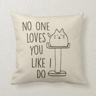 """Loves You Like I Do"" Throw Pillow Cushions"