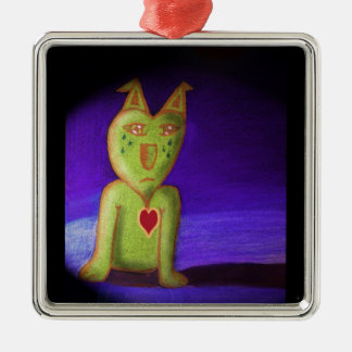 LoveSickPup Silver-Colored Square Decoration