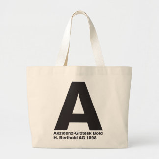 LoveType_Akzidenz-Grotesk Bold Large Tote Bag