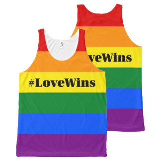 #LoveWins Marriage Equality Celebration Rainbow All-Over Print Tank Top
