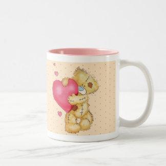 Lovey Dovey Bear Two-Tone Mug