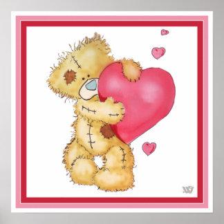 Lovey Dovey Teddybear Print