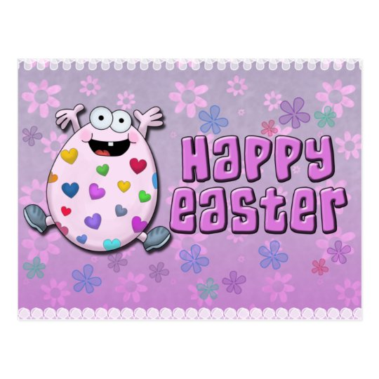 Lovey the Happy Easter Egg Postcard