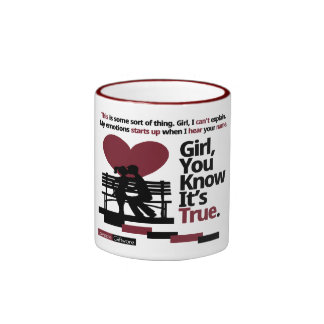 Lovezzle Girl You Know It s True Ringer Mug