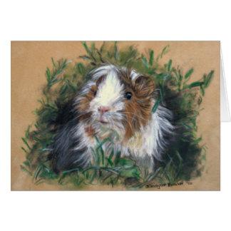 Lovin' lavender Guinea Pig/guinea-pig Card