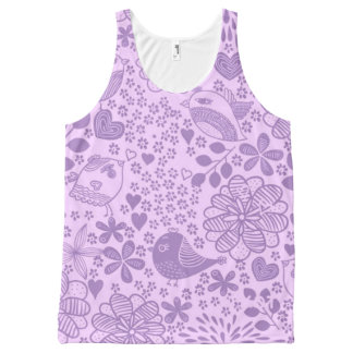 Lovin' Life in Purple All-Over Print Tank Top