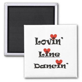 Lovin' Line Dancin' Square Magnet