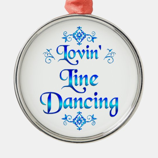 Lovin Line Dancing Christmas Ornament