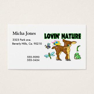 Lovin Nature Animals Business Card