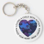 Loving a child with autism keychain