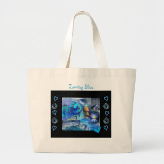 """LOVING BLUE"" JUMBO TOTE BAG"