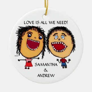 Loving Brother and Sister Custom Christmas Christmas Ornament