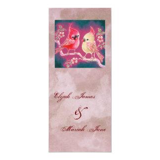 Loving Cardinal Pair For Wedding 10 Cm X 24 Cm Invitation Card
