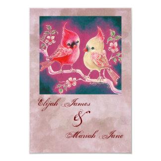 Loving Cardinal Pair For Wedding 9 Cm X 13 Cm Invitation Card