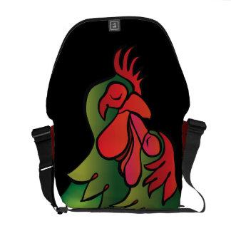 Loving Chickens, Practical, Funny Valentin's Gift Messenger Bag