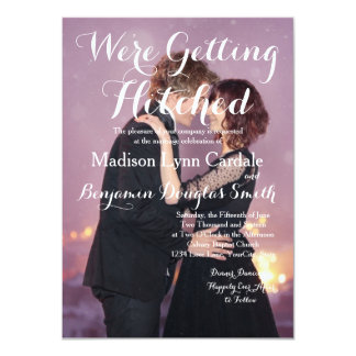 Loving couple dancing in the night city/Wedding 11 Cm X 16 Cm Invitation Card