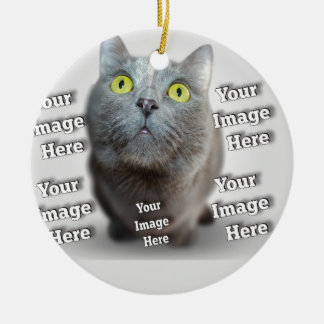 Loving Customizable Pet Photo Template Round Ceramic Decoration
