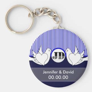 Loving Doves Wedding Keychains