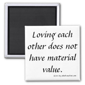 loving each other square magnet