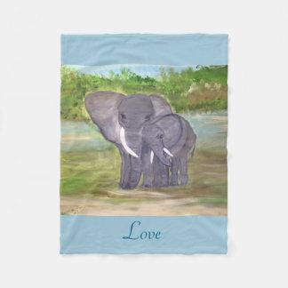 Loving Elephants Fleece Blanket