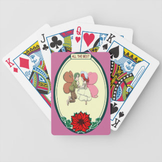 Loving flying fairies playing cards