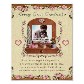 Loving Great Grandmother 8x10 Photo Print Frame