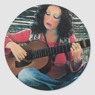 LOVING GUITAR, Country Blues Folk  Pop Music Sticker
