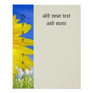 Loving,happy,sunflower,colorful,flower,animated 11.5 Cm X 14 Cm Flyer