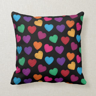 Loving Hearts Colorful Pillow to Show You Care
