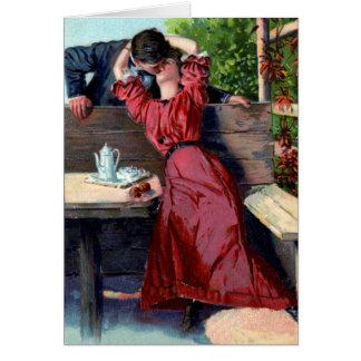 Loving Kiss Valentine Card