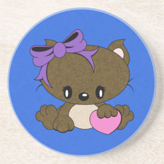 Loving Kitty Drink Coaster