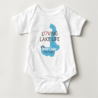 Loving Lake Life, Devil's Lake, Michigan Baby Bodysuit