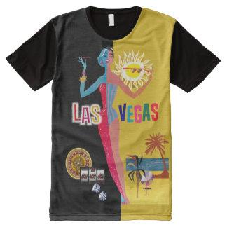 Loving Las Vegas | vintage gold & black All-Over Print T-Shirt