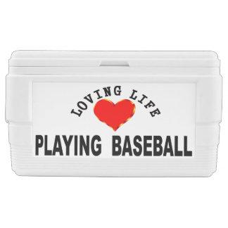 Loving Life Playing Baseball Cooler