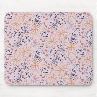 Loving Lines - Pawprint Trails II Mouse Mat