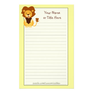 Loving Lion Stationery