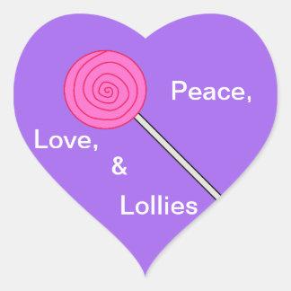 """""""Loving Lollies"""" lollipop sticker"""