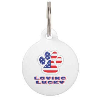 Loving Lucky USA Dog Tag