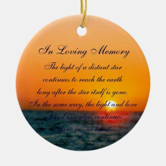 Loving Memory Pastel Ocean Sunset Death Memorial Christmas