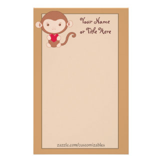 Loving Monkey Stationery