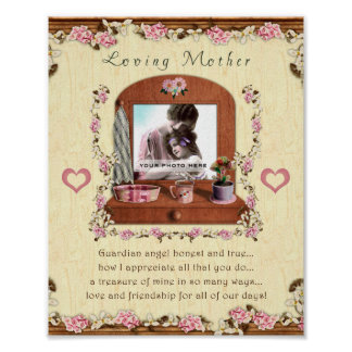 Loving Mother 8x10 Personalized Photo Frame Poster