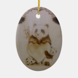 Loving Panda Christmas Ornament