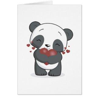 Panda Valentine's Card