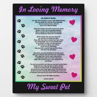 Loving Pet Memorial Photo Plaque