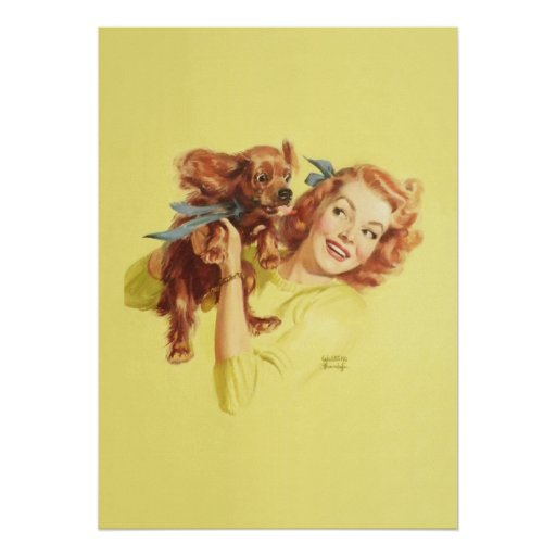 LOVING PUP PIN UP Poster 20 x 28