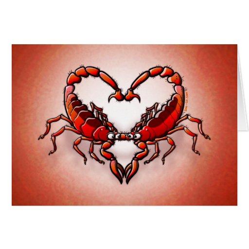 Loving Scorpions Greeting Card